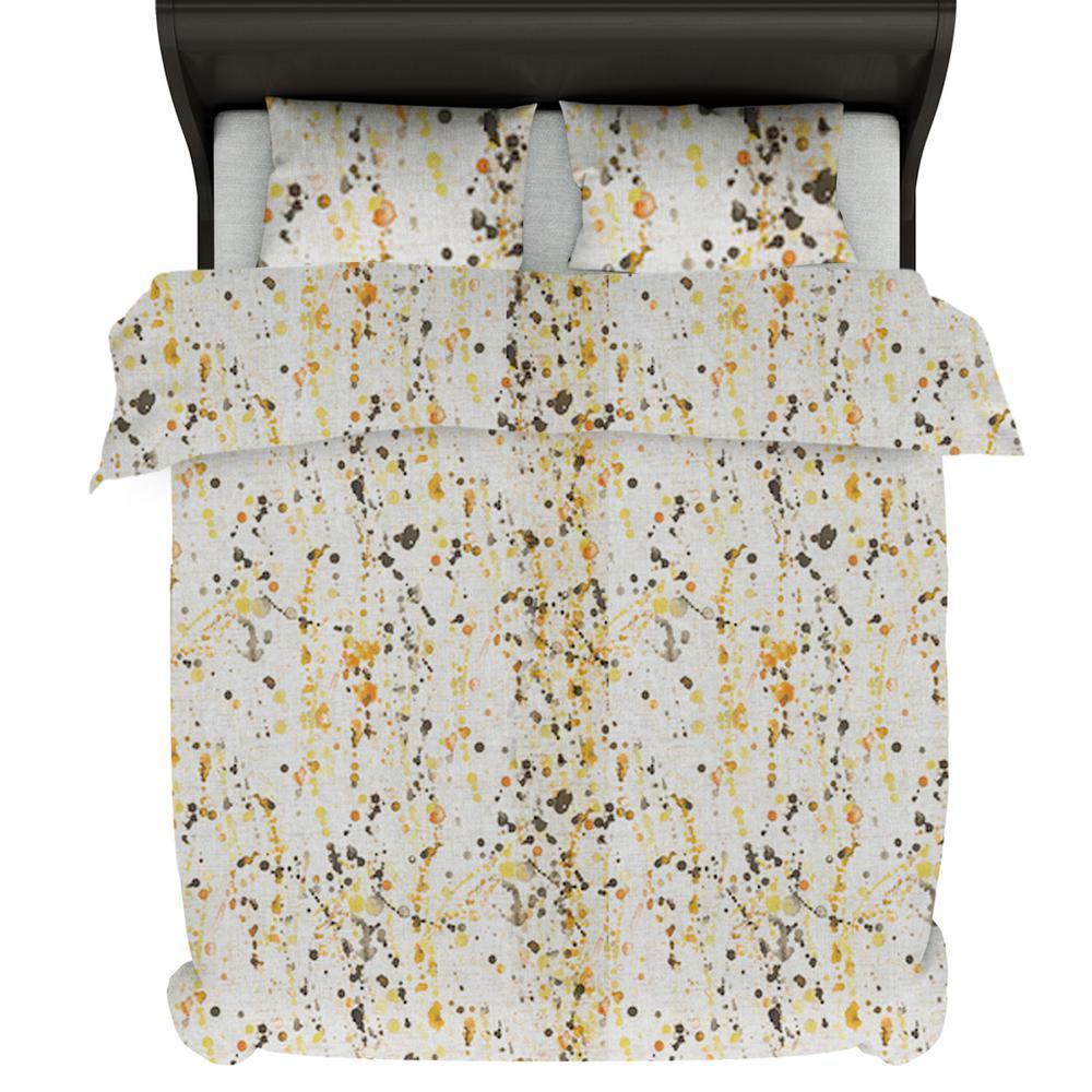 A1HC Citronelle 6-Piece Multi-Color Reversible Print 100% Organic Cotton Wrinkle Resistant Queen Home Bundle