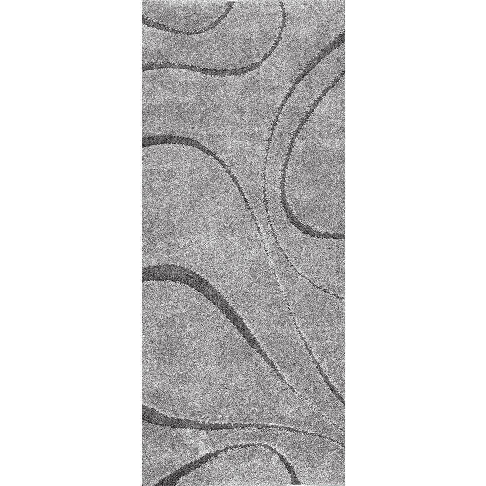 Caroyln Dark Grey 3 ft. x 8 ft. Runner Rug