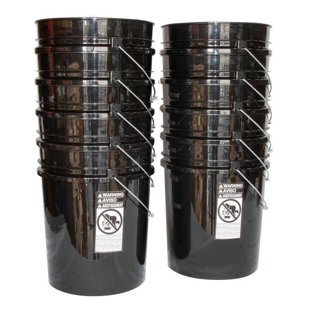 Hydrofarm HG5GL Bucket Lid 5 Gallon 10 Pack Black