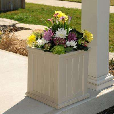 Cape Cod 16 in. Square Clay Plastic Planter