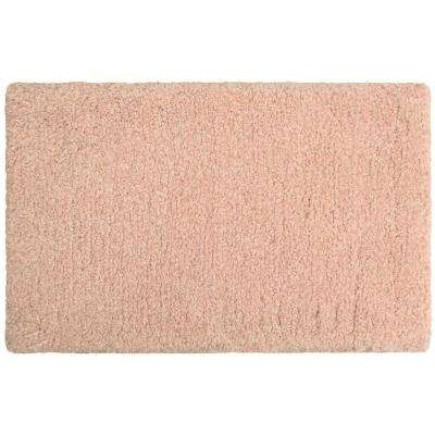 Rachel Lurex 20 in. x 34 in. Bath Rug, Blush