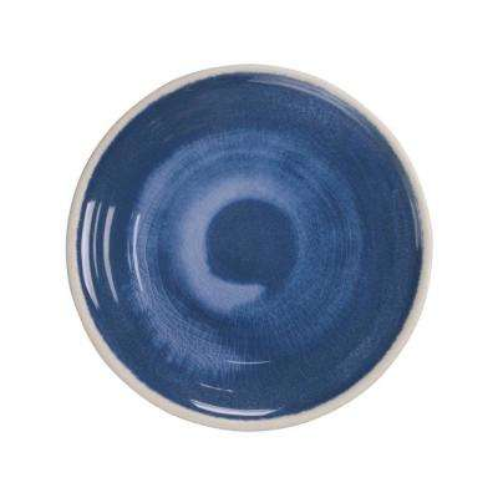 Raku Blue Salad Plate