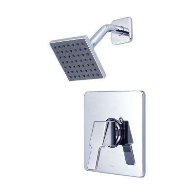 i3 1-Handle Wall Mount Shower Trim Kit in Polished Chrome with 4 in. Square Showerhead (Valve Not Included)