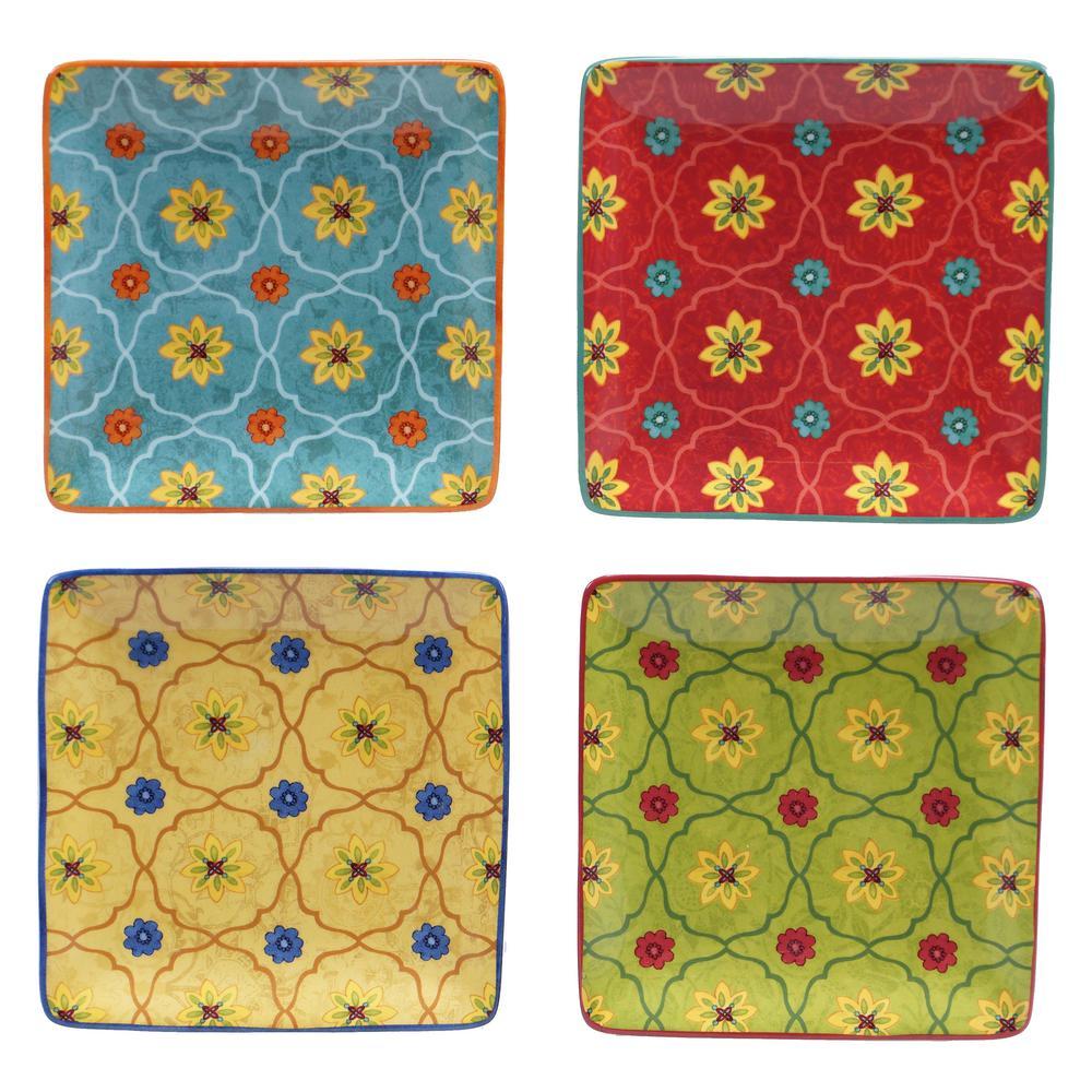 Tunisian Sunset Canape Plate (Set of 4)