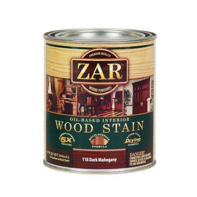 118 1 qt. Dark Mahogany Wood Interior Stain (2-Pack)