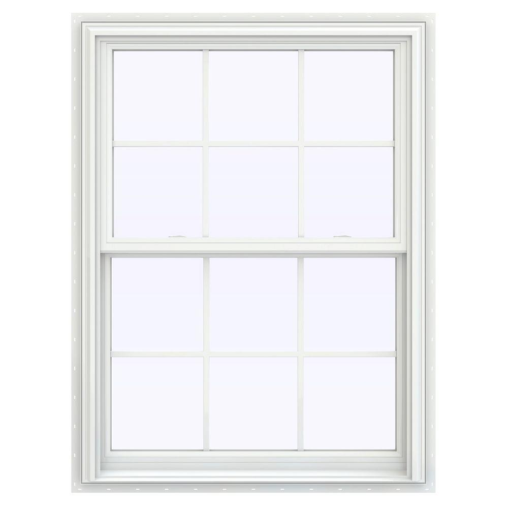 Jeld wen 35 5 in x 47 5 in v 2500 series white vinyl for Buy jeld wen windows online