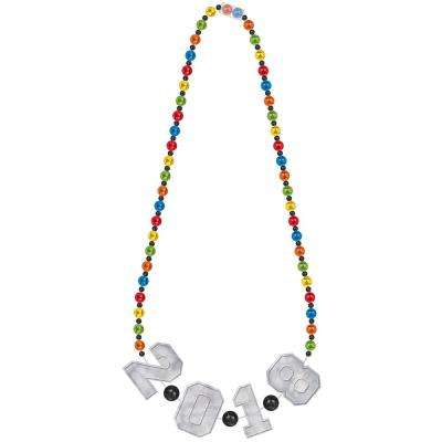 New Year's 36 in. Giant Beaded Necklace (3-pack)