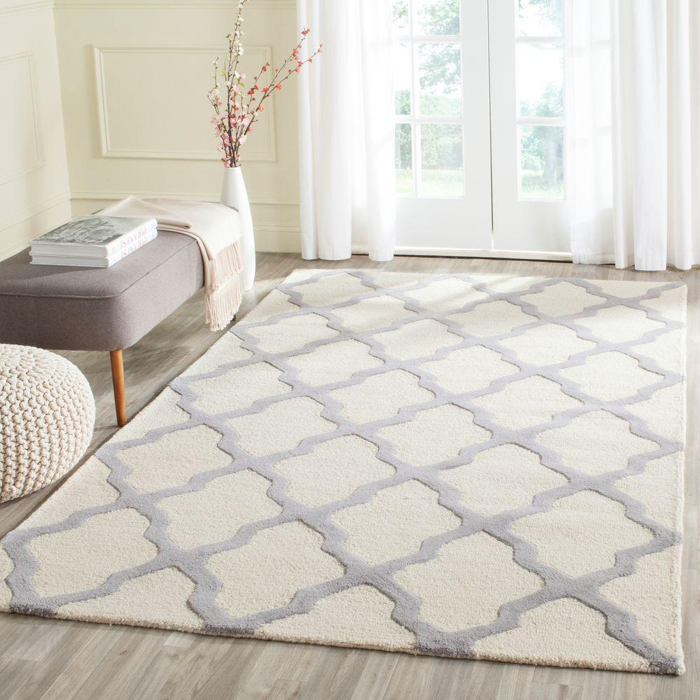 Cambridge Ivory/Silver 6 ft. x 9 ft. Area Rug