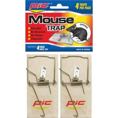 4 Wood Mouse Traps (6-Pack)