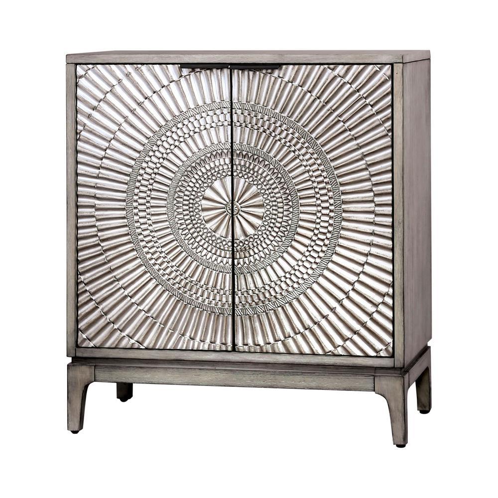 Furniture of America Raffiq Antique Gray Nightstand IDF-7521N