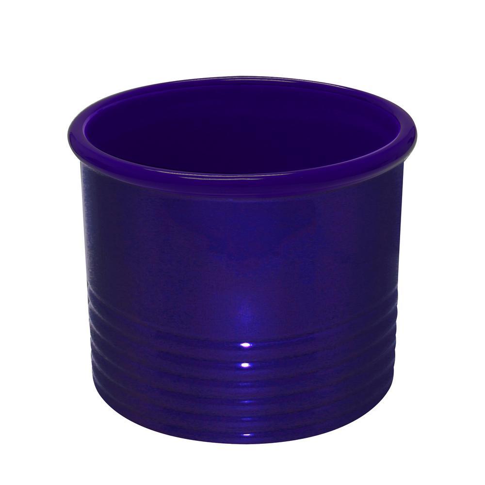 Large Cobalt Blue Ceramic Utensil Crock