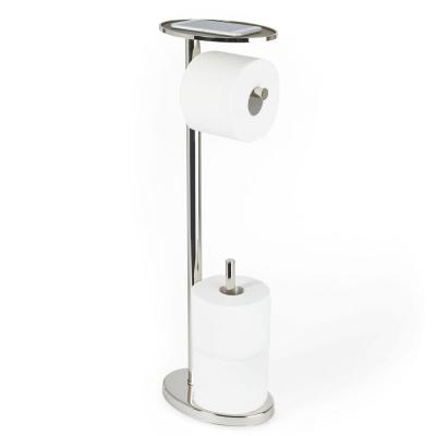 OVO Toilet Caddy Toilet Paper Holder in Polished Nickel