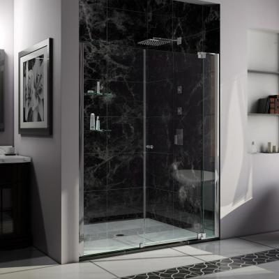 Allure 56 in. to 57 in. x 73 in. Semi-Frameless Pivot Shower Door in Chrome