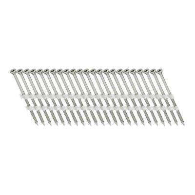 2-1/2 in. x 1/9 in. 20-Degree Plastic Strip Versa Drive-Head FT Electro-Galvanized Nail Screw Fastener (1,000-Pack)