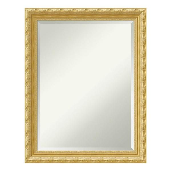 Amanti Art Medium Rectangle Antique Gold Beveled Glass Casual Mirror 27 88 In H X 21 88 In W Dsw4016395 The Home Depot
