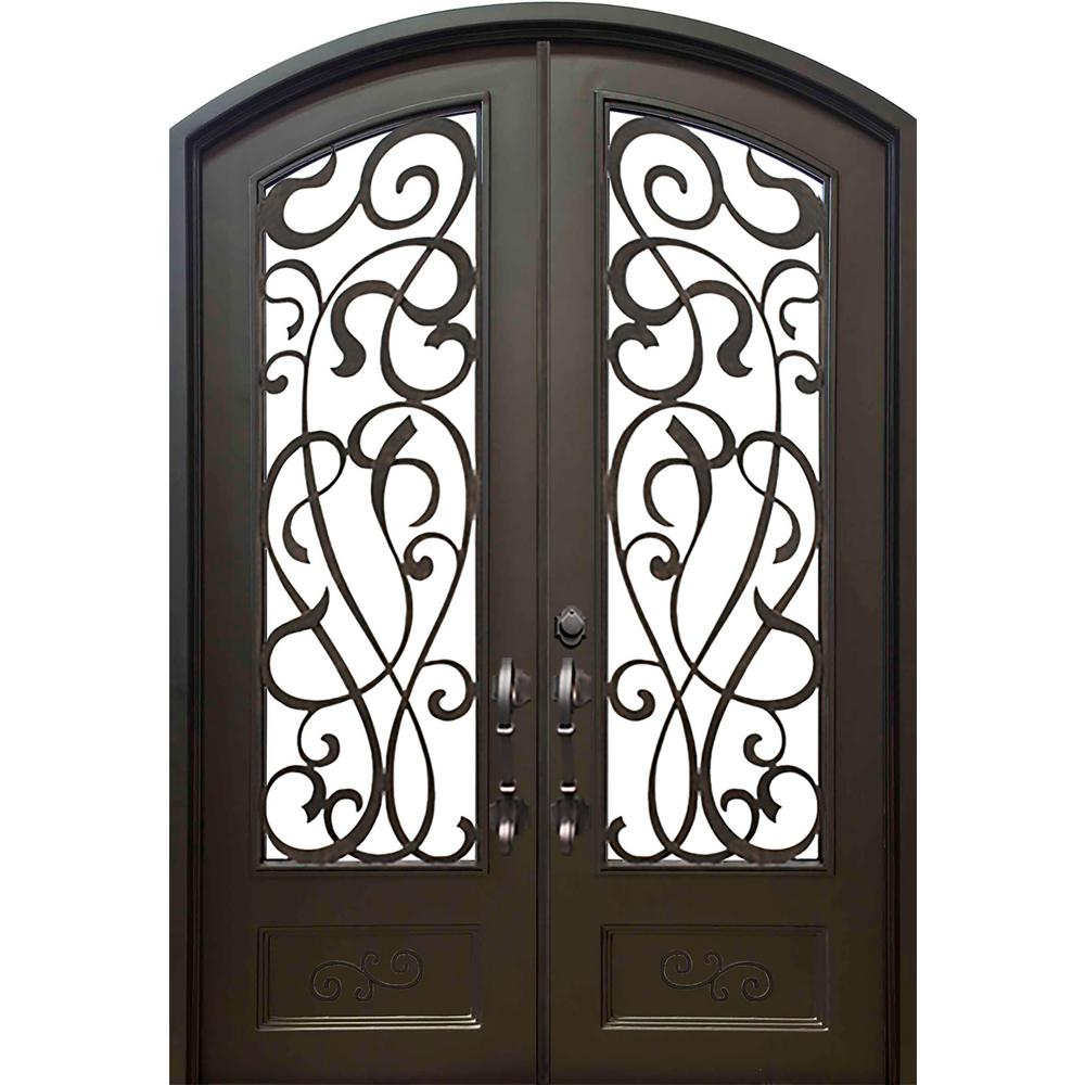 Allure Iron Doors Windows 62 In X 975 In Eyebrow St Lucie Dark