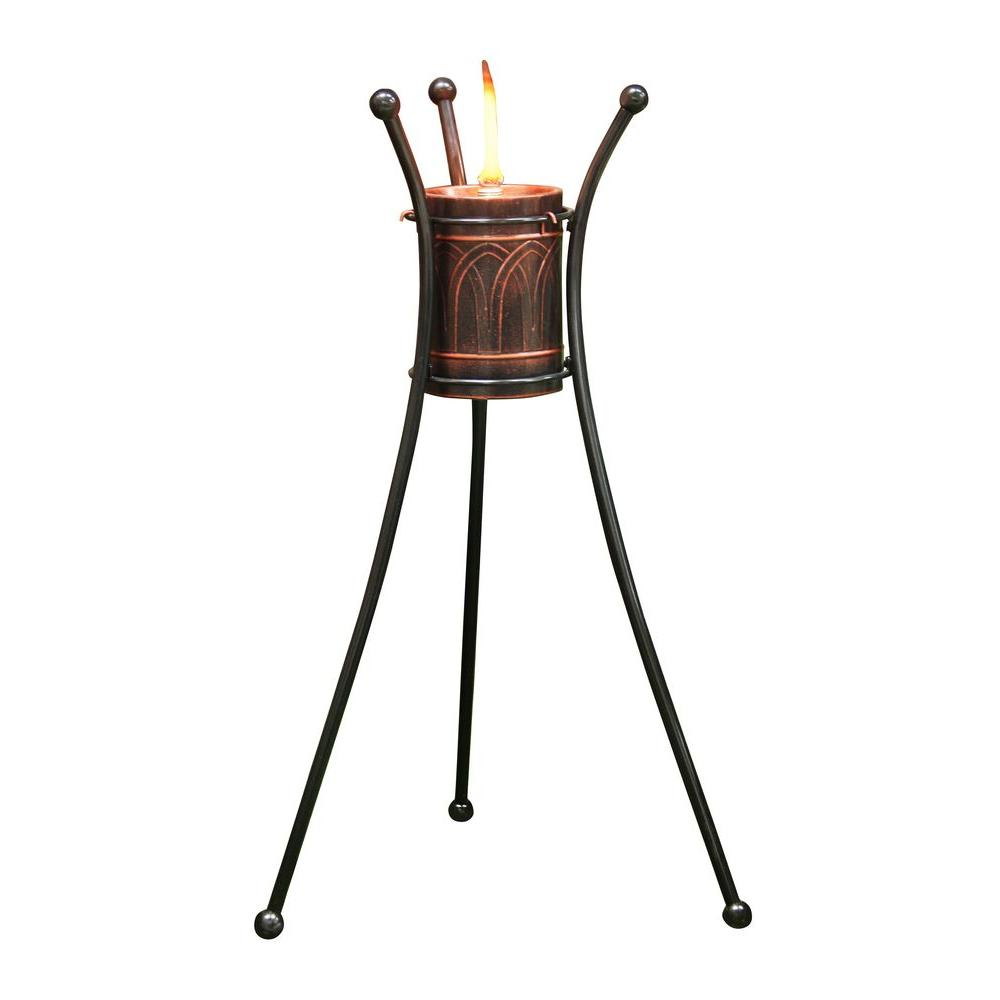 Metal Citronella Pillar Torch (Pack of 2)