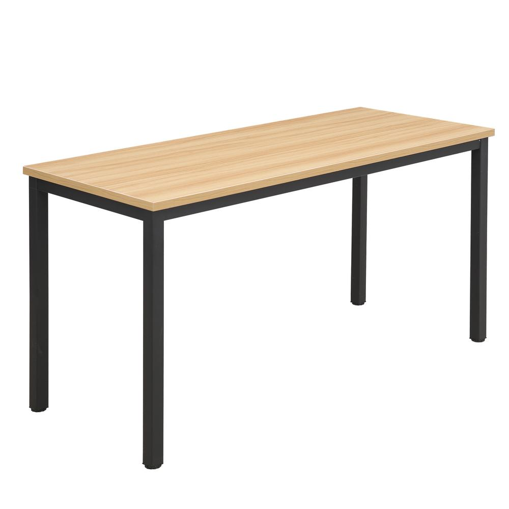 Poly And Bark Bristol Natural Black Office Desk