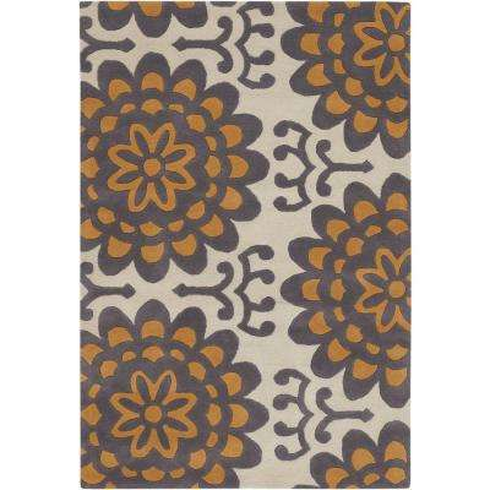 Amy Butler Cream/Charcoal/Orange 7 ft. 9 in. x 10 ft. 6 in. Indoor Area Rug