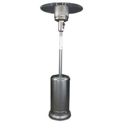 40,000 BTU Antique Silver Round Mushroom Style Gas Patio Heater