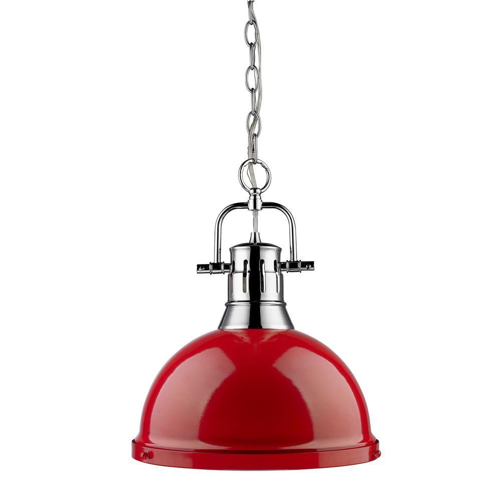 null Wyman Collection 1-Light Chrome Pendant