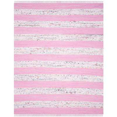 Montauk Ivory/Light Pink 8 ft. x 10 ft. Area Rug