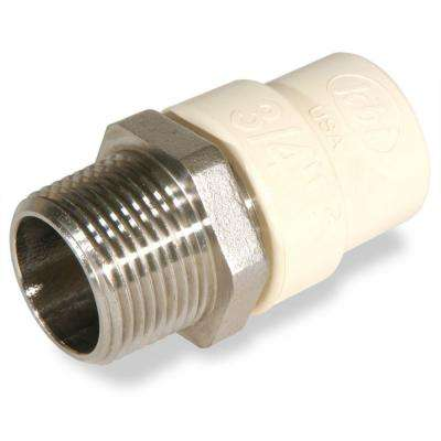 3/4 in. CPVC CTS MPT x Socket Lead Free Stainless Steel Transition Adaptor