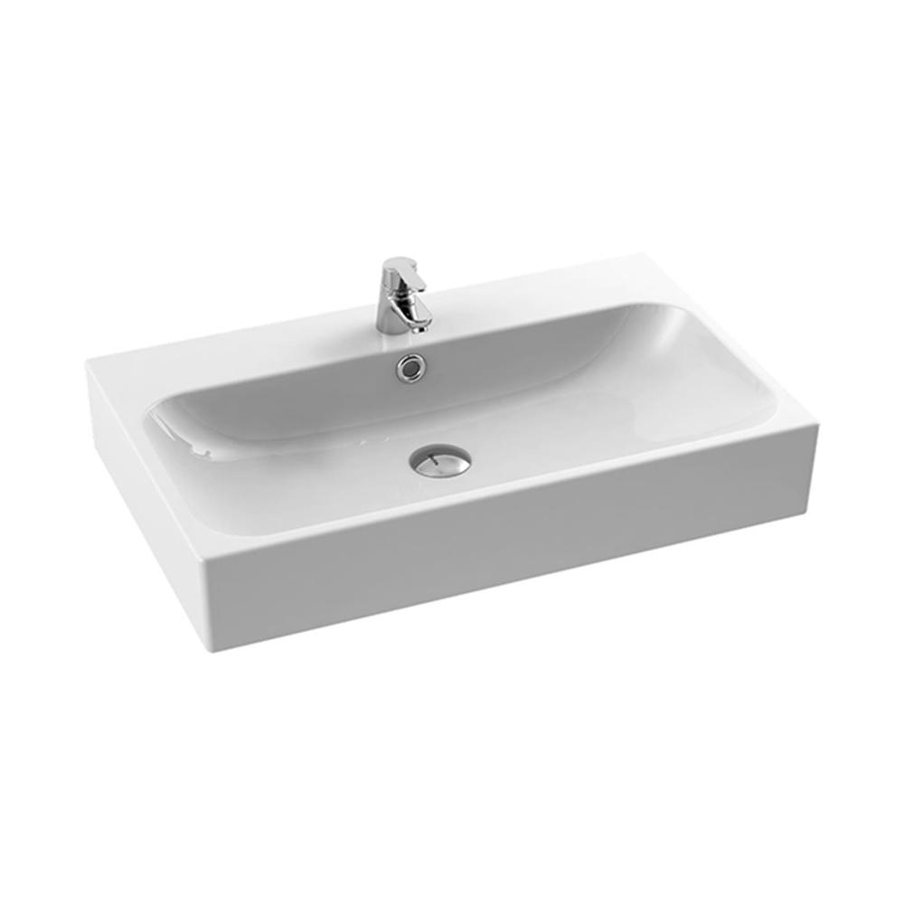 Charmant Nameeks Pinto Wall Mounted Bathroom Sink In White