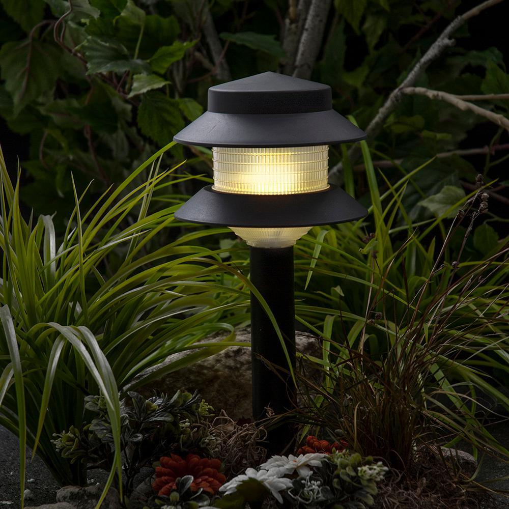 Paradise Low Voltage Incandescent 4 Watt Black Outdoor Landscape 2 Tier Path Light