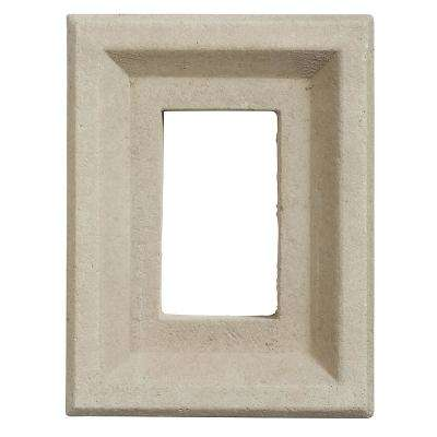 Taupe 8 in. x 6 in. Versetta Stone Receptacle Box