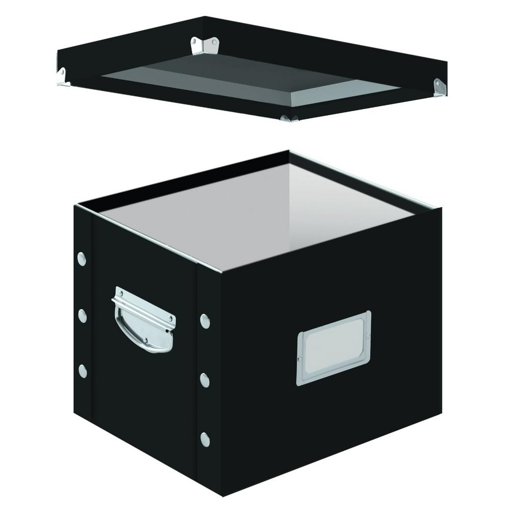 Snap N Letter Size File Box In Black