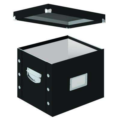 Letter Size File Box in Black