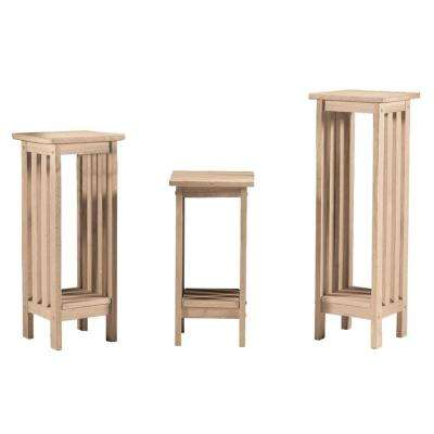 Mission Unfinished Indoor Plant Stand. Wood   Accent Tables   Living Room Furniture   The Home Depot