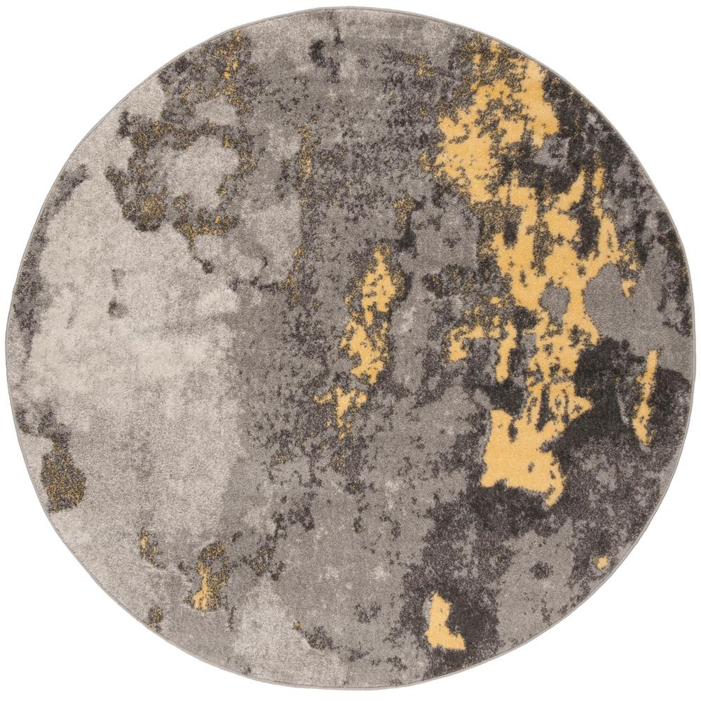 Safavieh Adirondack Gray Yellow 4 Ft X Round Area Rug