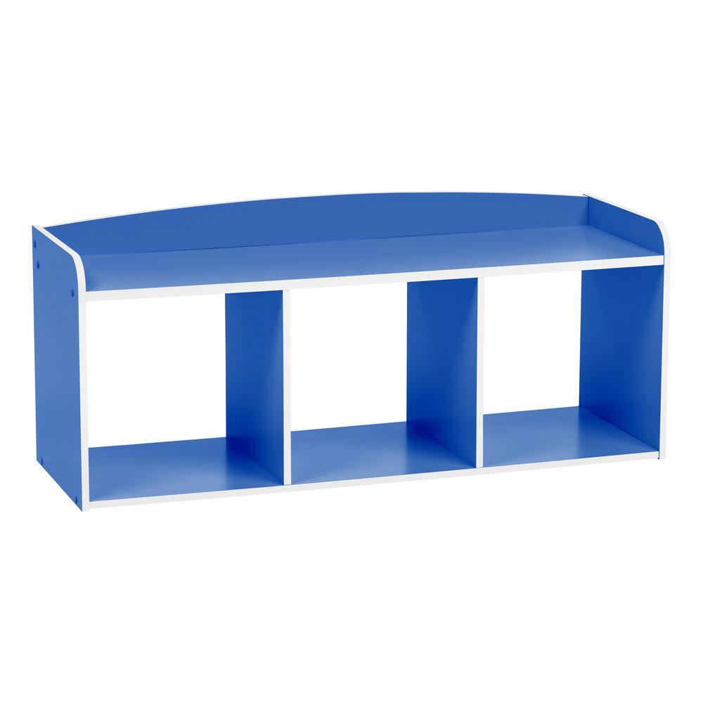 Fabulous Iris Kids Blue Wooden Storage Bench Download Free Architecture Designs Grimeyleaguecom