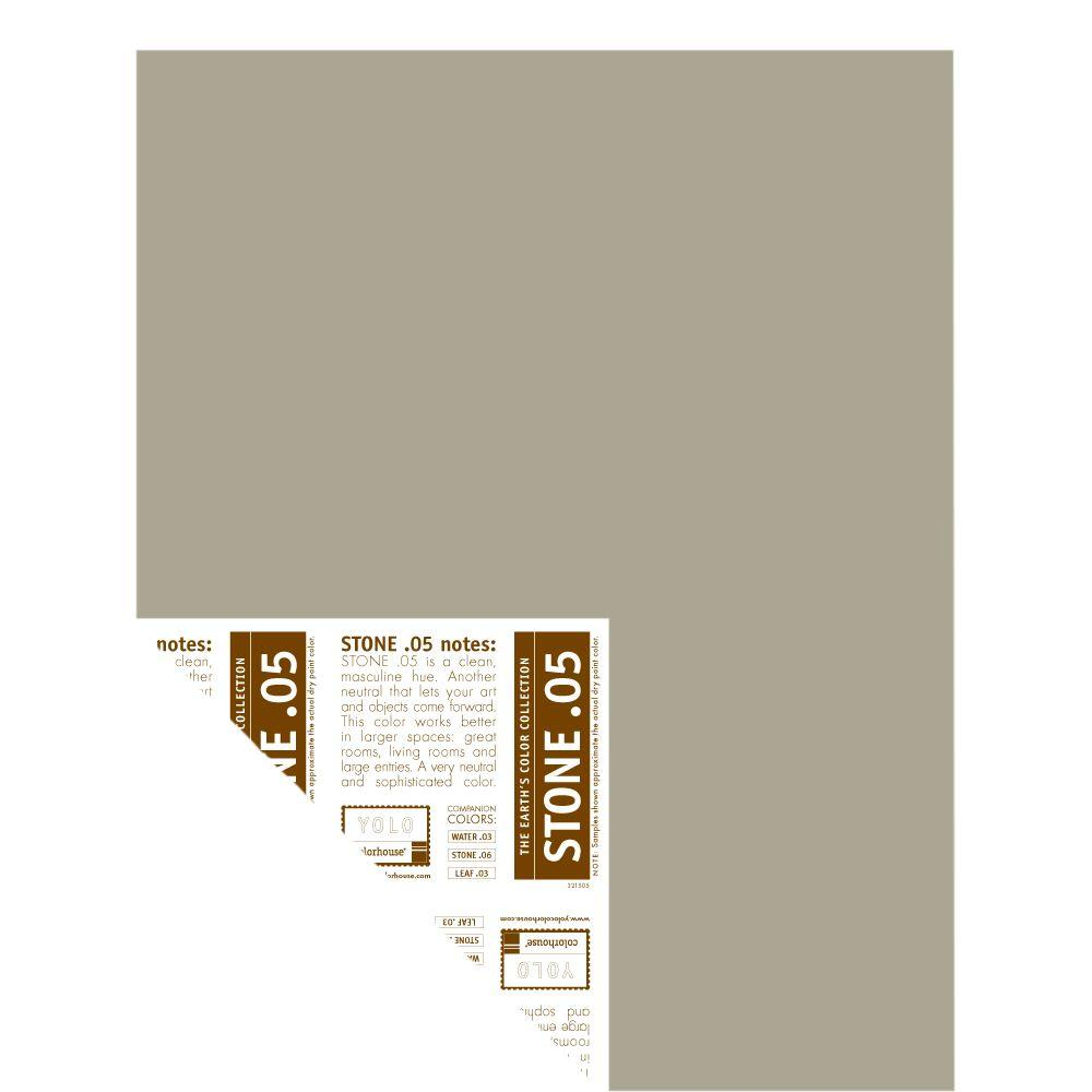 YOLO Colorhouse 12 in. x 16 in. Stone .05 Pre-Painted Big Chip Sample