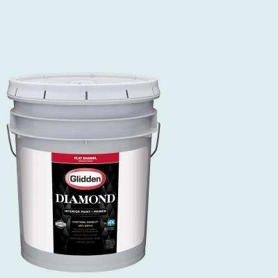 5 gal. #HDGB31U Blue Frost Flat Interior Paint with Primer