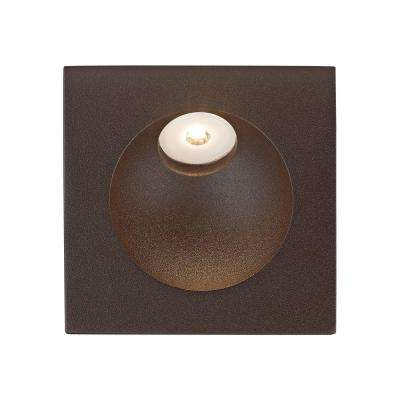 2 in. Matte Brown Zone LED Step Light