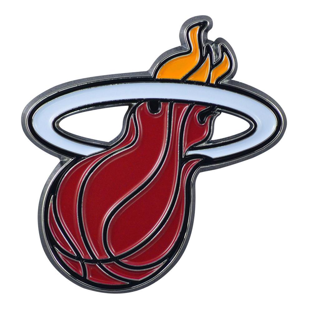 f10dee6bb29 FANMATS 3.2 in. x 3 in. NBA Miami Heat Emblem-22227 - The Home Depot
