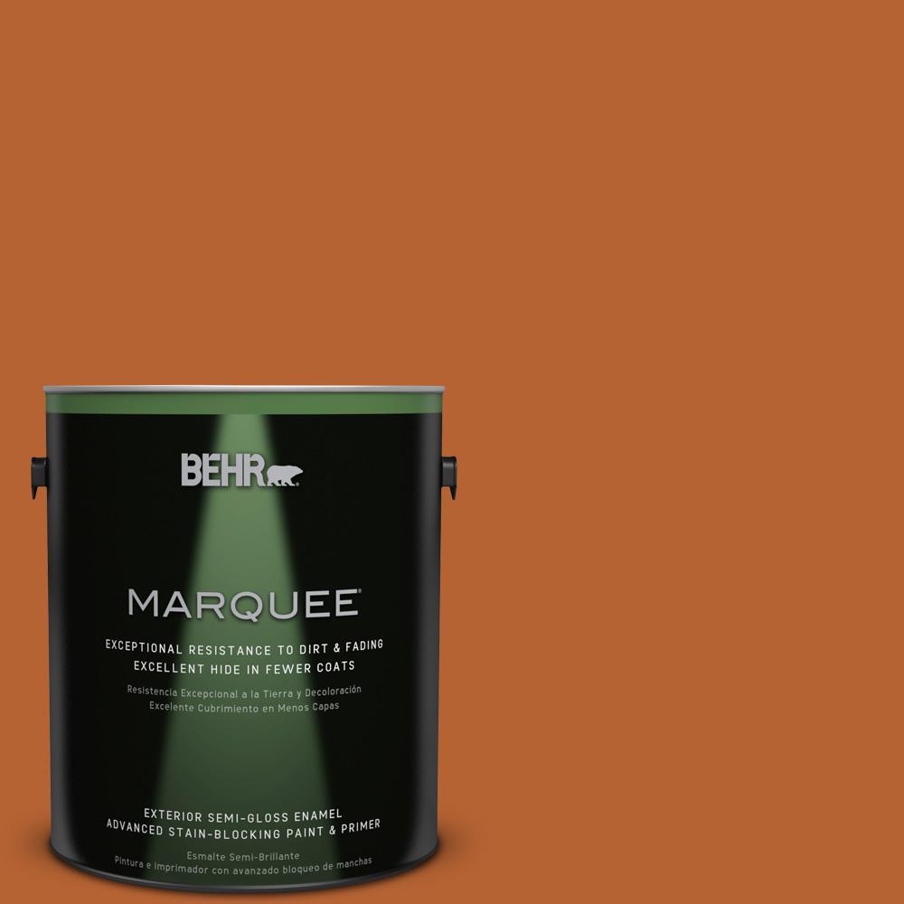 1-gal. #250D-7 Caramelized Orange Semi-Gloss Enamel Exterior Paint