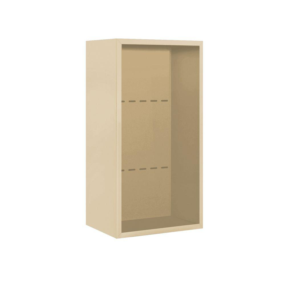 Salsbury Industries 3800 Series 17.5 in. W x 35.125 in. H Surface Mounted Enclosure for Salsbury 3709 Single Column Unit in Sandstone