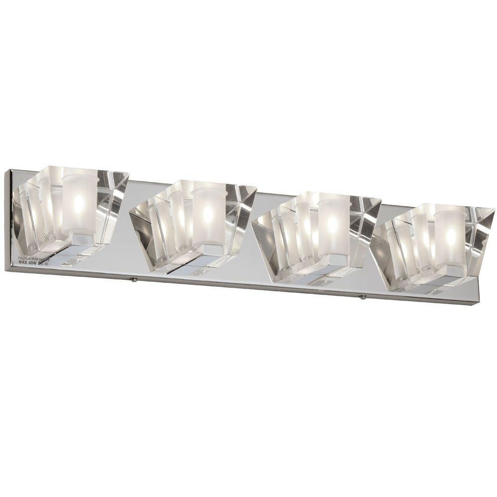 Ellipse 4-Light Polished Chrome Vanity Light