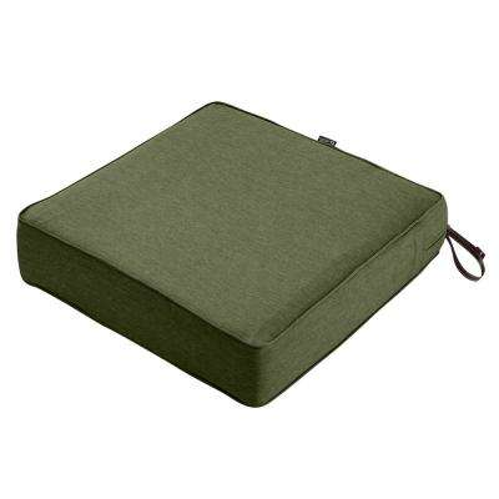 Montlake Heather Fern Green 23 in. W x 23 in. D x 5 in. T Outdoor Lounge Chair Cushion