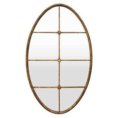40 in. Gold Metal Wall Mirror Decoration