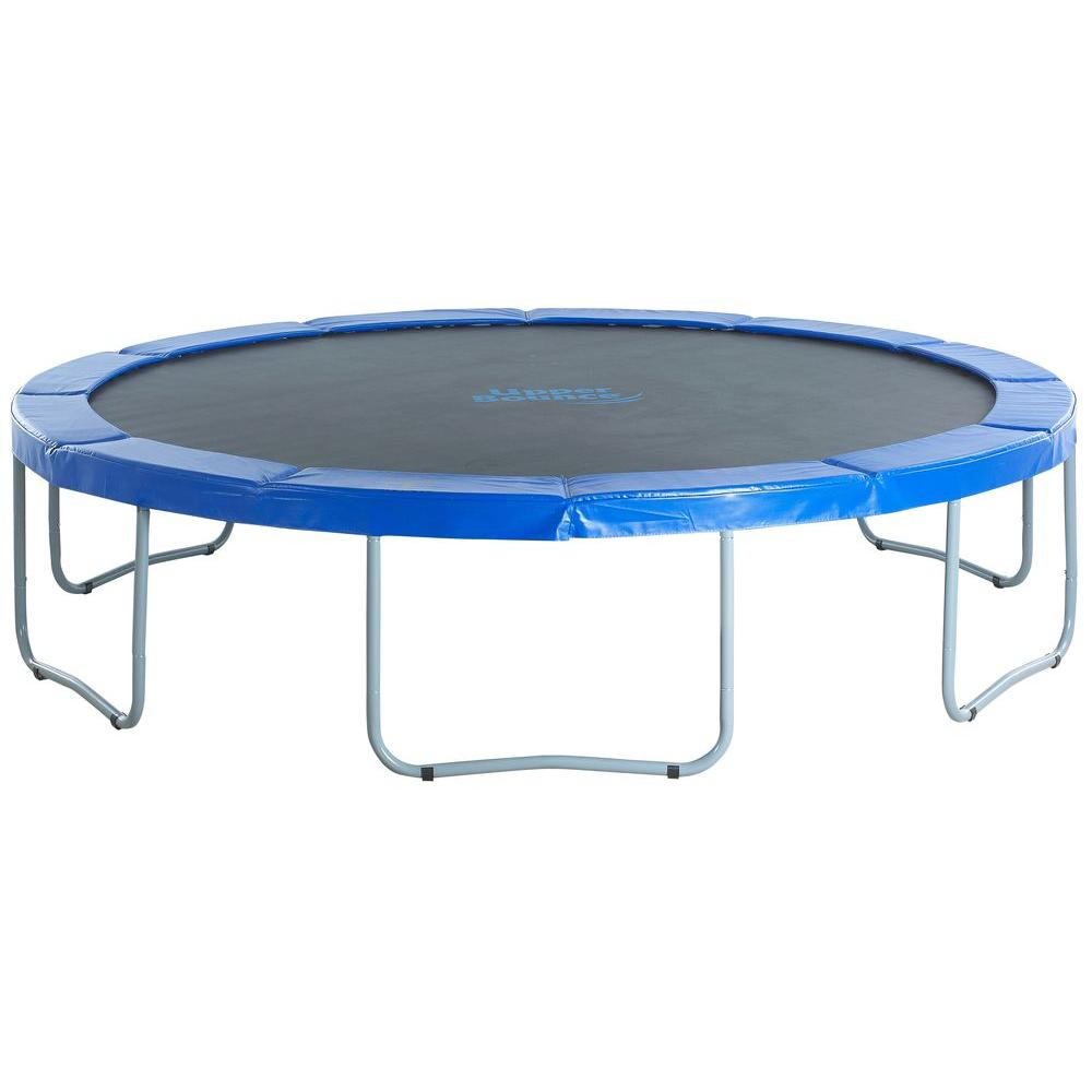 Upper Bounce 14 Ft Round Trampoline With Blue Safety Pad