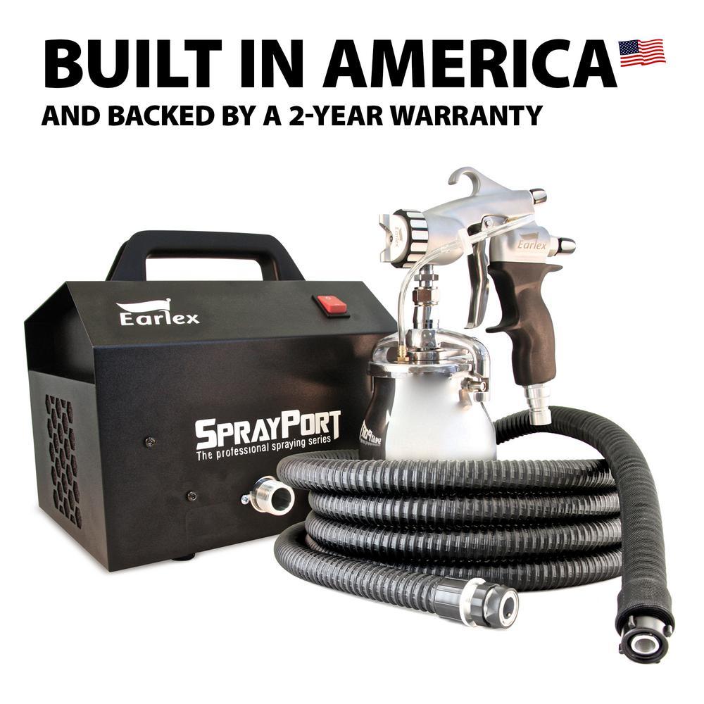 Spray Port HVLP Sprayer with Pressure Feed Gun