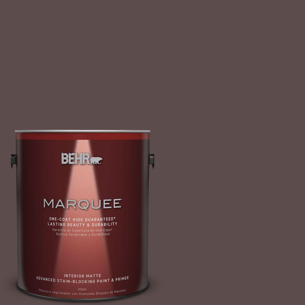 1 gal. #MQ1-43 Piano Brown One-Coat Hide Matte Interior Paint
