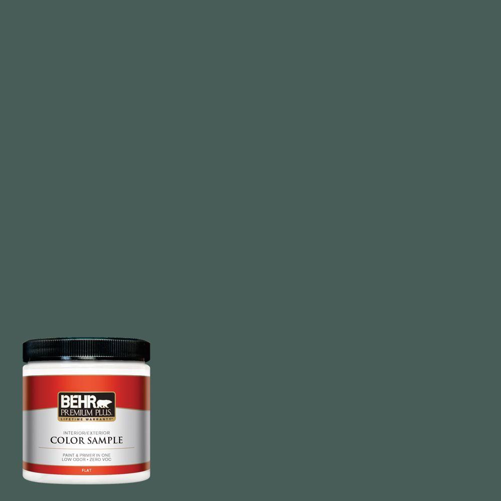 BEHR Premium Plus 8 oz. #ICC-86 New Hunter Interior/Exterior Paint Sample