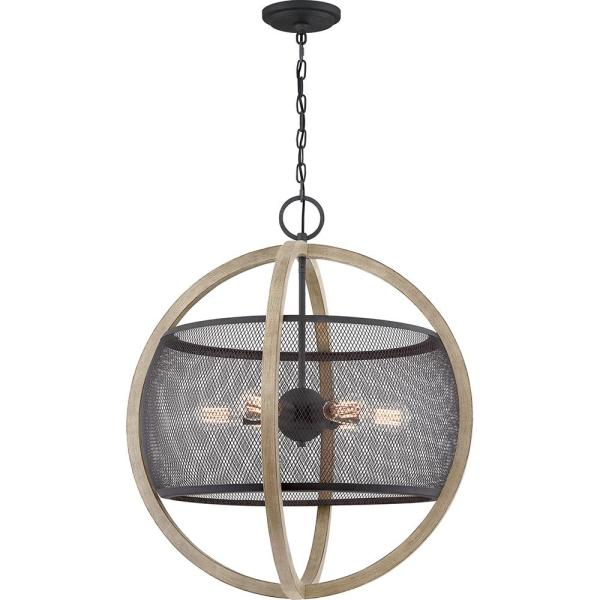 Slater 6-Light Mottled Black Pendant