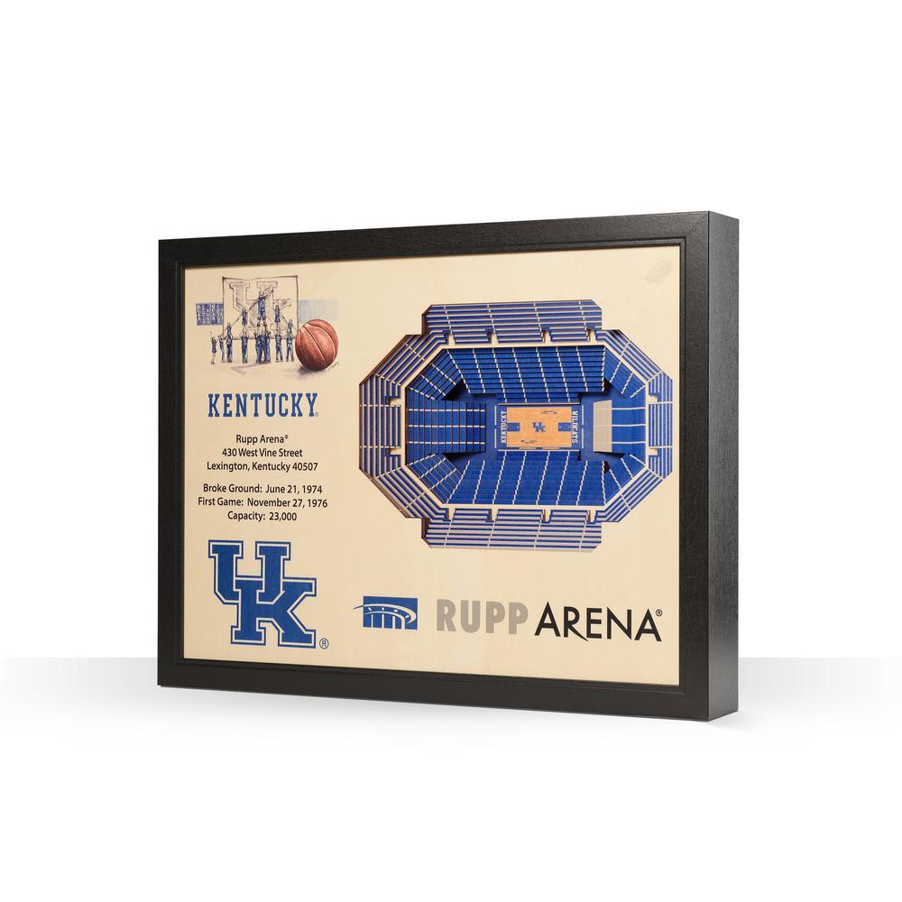 Youthefan Ncaa Kentucky Wildcats 25 Layer Stadiumviews 3d Wooden